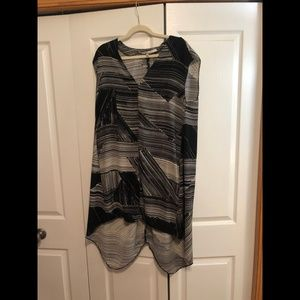 RACHEL Rachel Roy Grey & Black Patterned Dress
